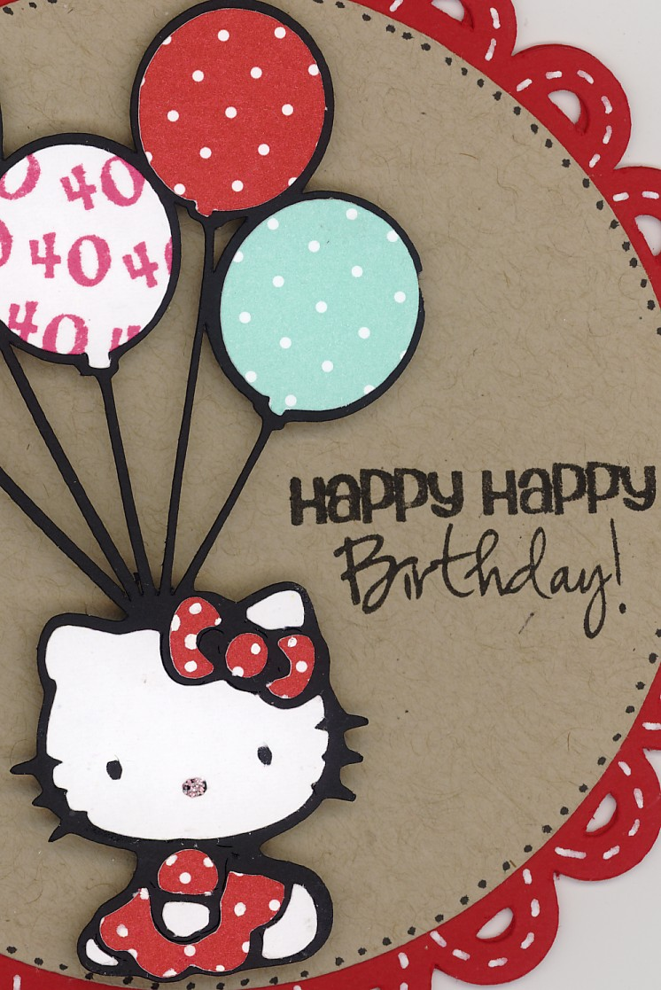 Hello+Kitty+Happy+Birthday,Hello Kitty Cute Greeting Card