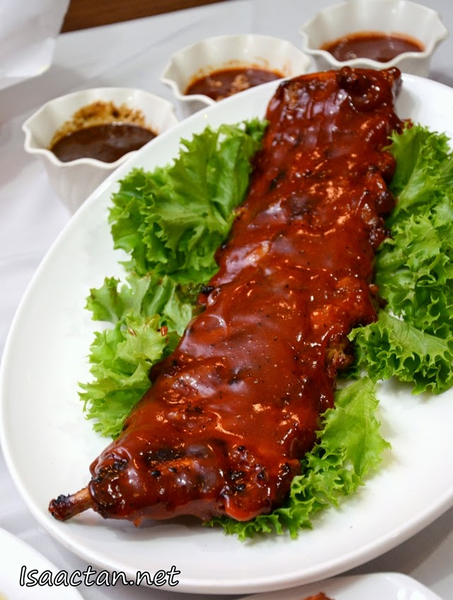 Choose your signature sauces to go with the slab of rib