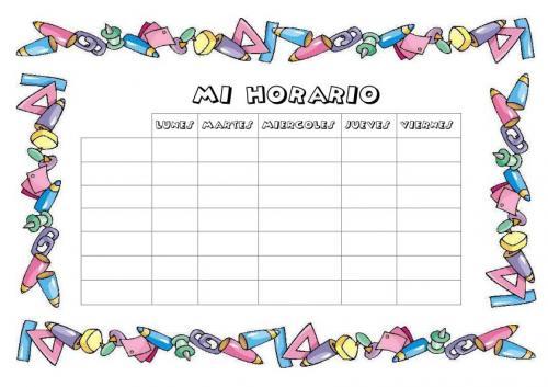 Bordes para cuadernos escolares - Imagui