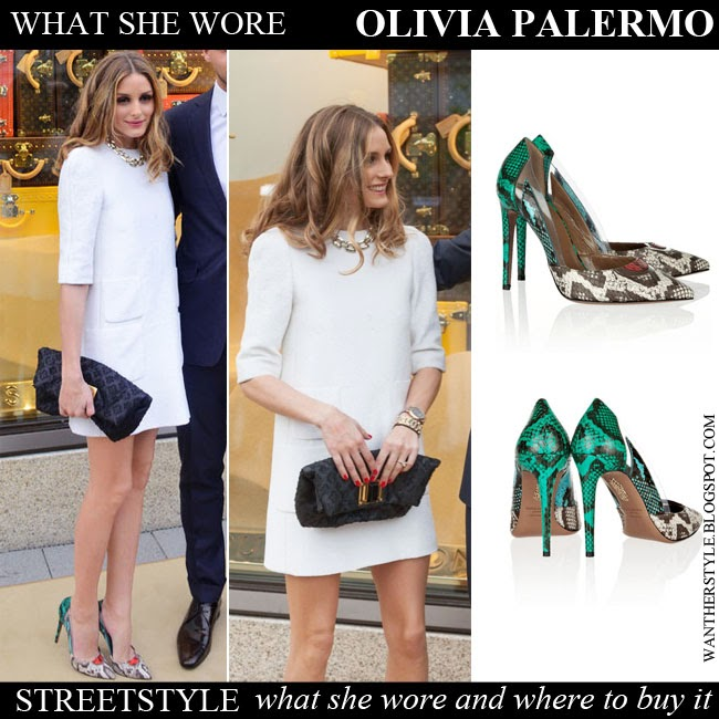 what she wore olivia palermo in white short sleeve dress. Black Bedroom Furniture Sets. Home Design Ideas