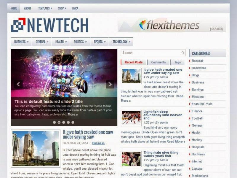 NewTech - Free Wordpress Theme