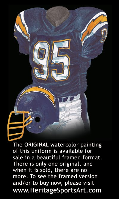 San Diego Chargers Uniform And Team History Heritage