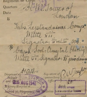 Prescription for Josef Jakobs (courtesy of Royal Armouries)