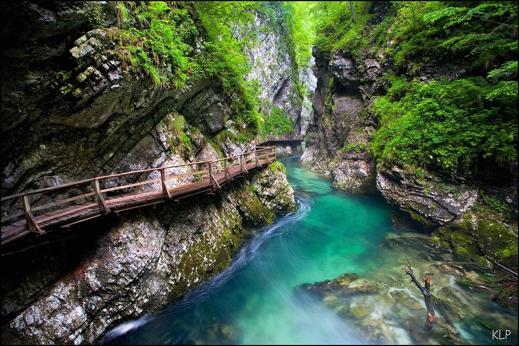 Beautiful Eastern Europe Vintgar Gorge Slovenia