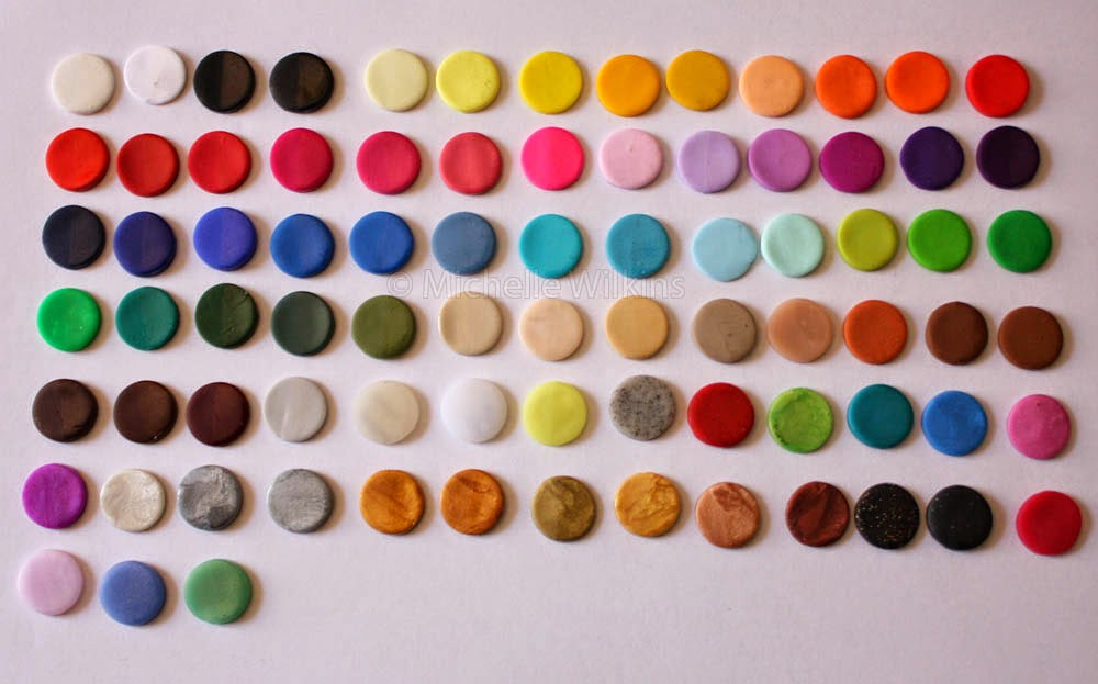 Made By Michelle Polymer Clay Colour Chart