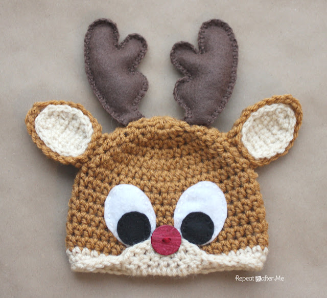 Repeat Crafter Me Crochet Reindeer Hat