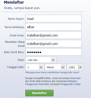 tutorial daftar facebook