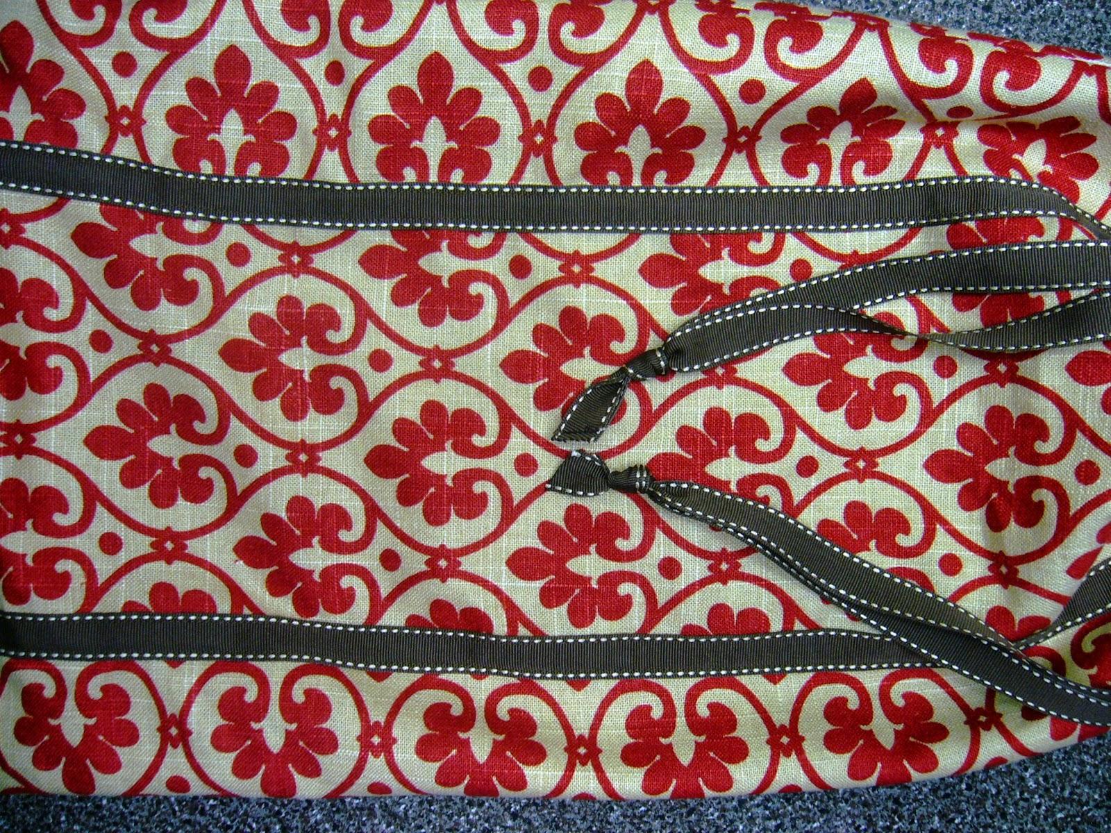 Linen scraps for drawstring bag