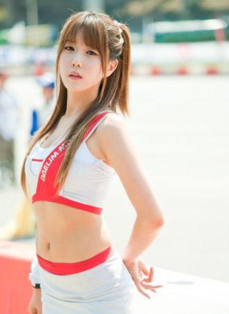 model korean, beauty korean model, sexy car, auto racing, umbrella girl