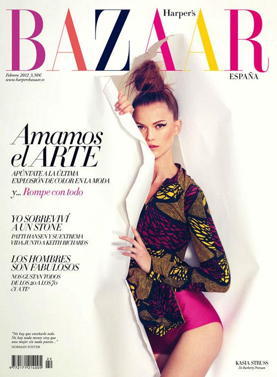 Kasia Struss para Harper's Bazaar España febrero 2012
