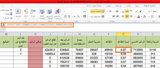 اعداد جدول الراتب الاساس والضريبة وقائمة الراتب باستخدام برنامج اكسل