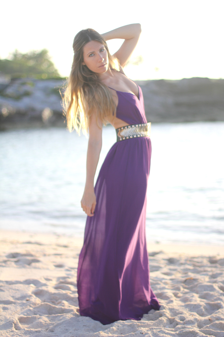 Backless long dress blogger Mnica Sors