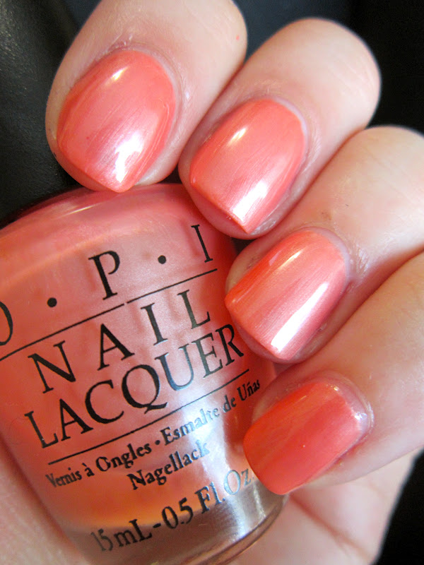 Epic Nail Time: OPI Melon Of Troy Black Label Swatch :)
