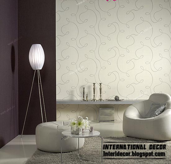 modern living room wallpaper design ideas, warm wallpaper color styles