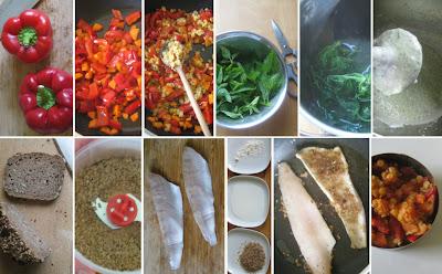 Zubereitung Zander auf Paprika-Karotten-Linsen mit Brennnesselcreme