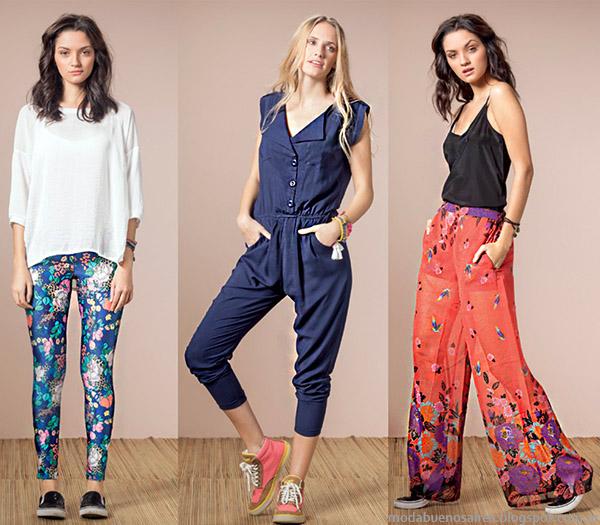 Palazzos, monos y pantalones de verano 2015. Núcleo Moda primavera verano 2015.
