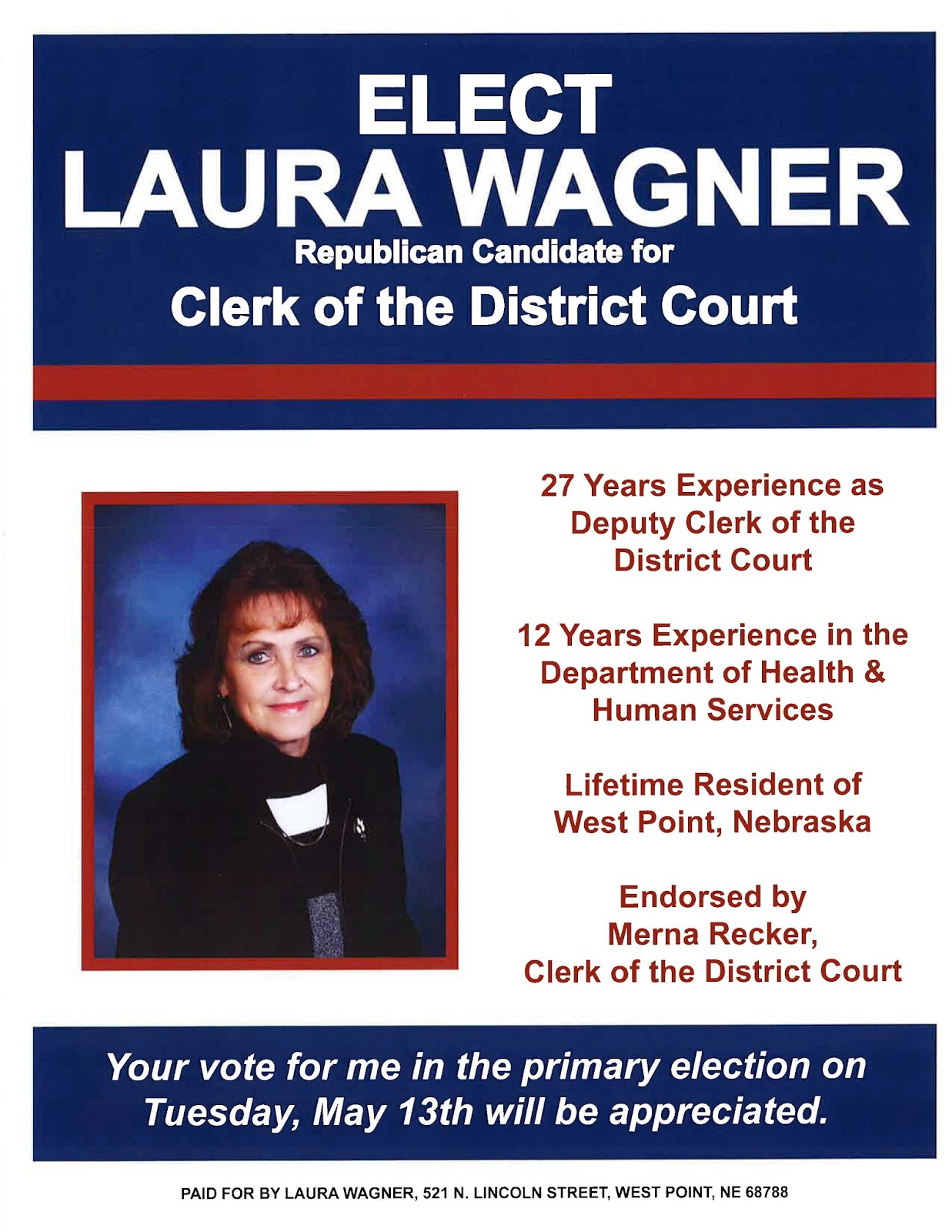 Nebraska cuming county - Laura Has Earned The Opportunity To Serve Cuming County As Our Clerk Of The District Court