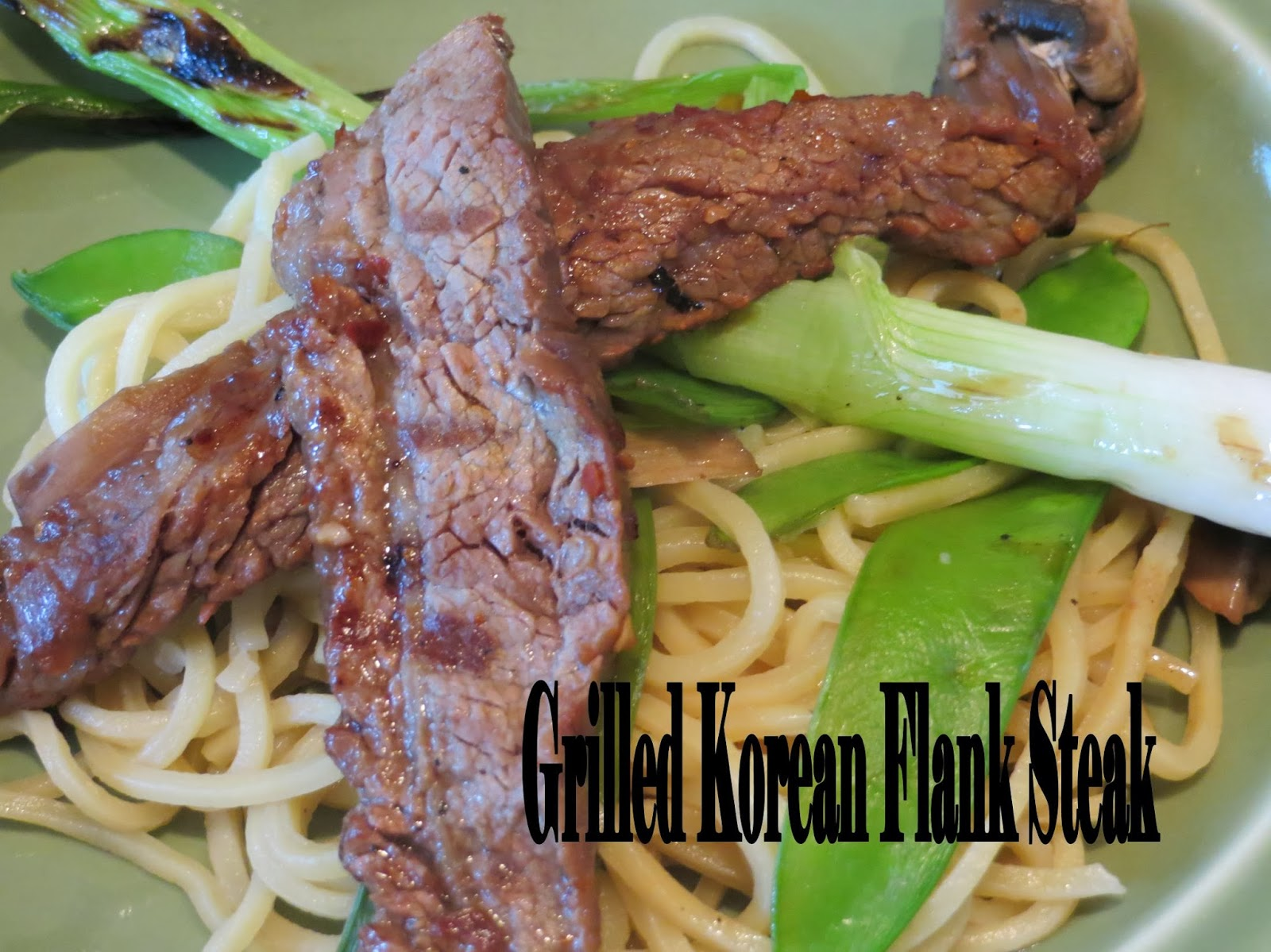 Two Magical Moms: Grilled Korean Flank Steak