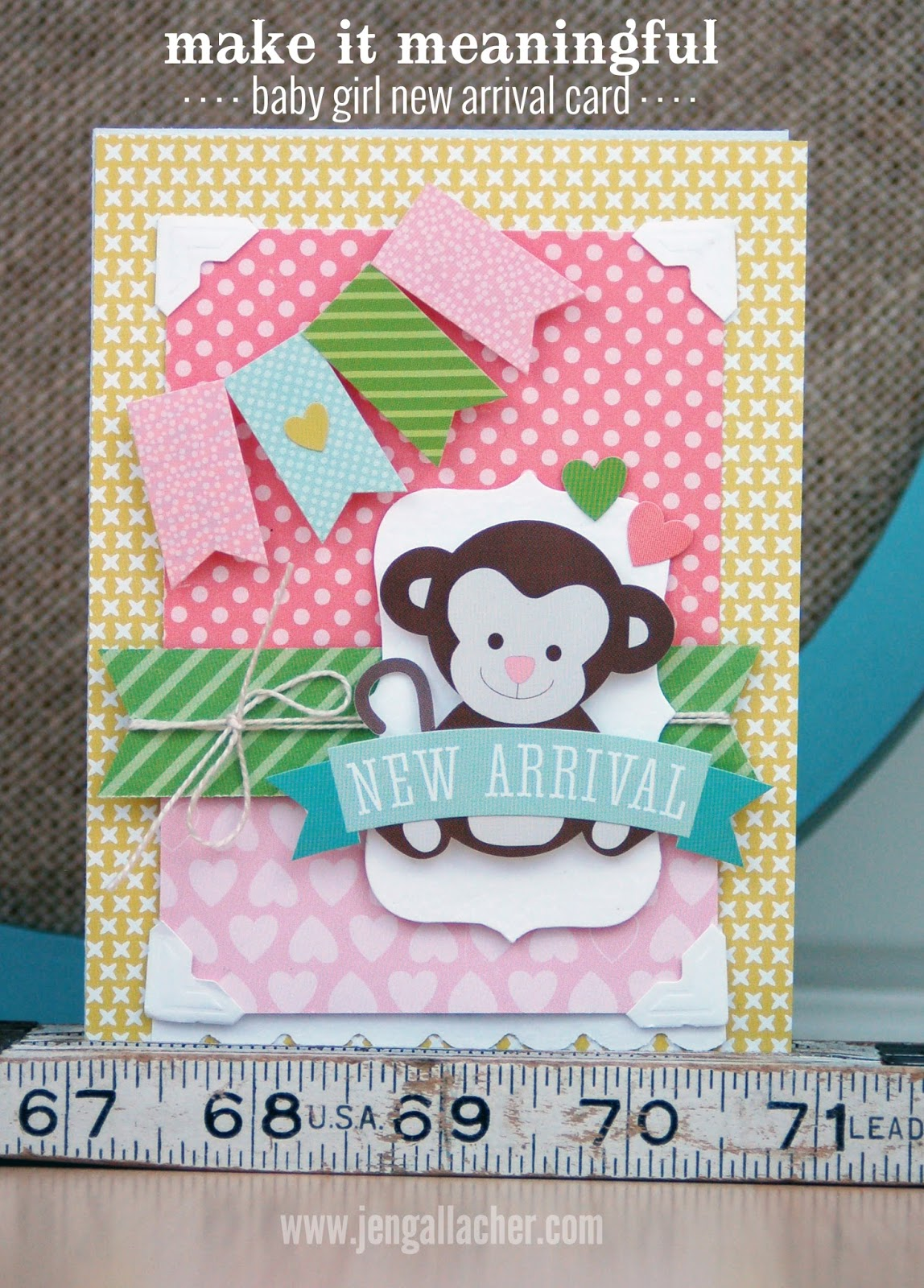 Baby Girl New Arrival Card by Jen Gallacher from www.jengallacher.com