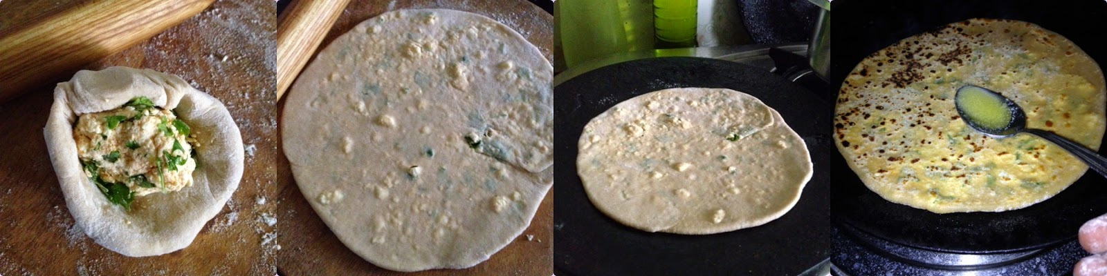 how to make paneer parathas