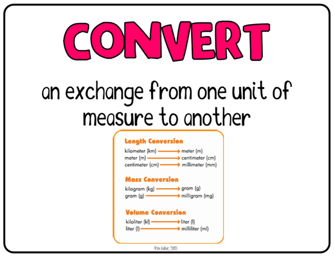 What Is Convert In Math - Laptuoso