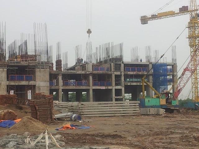 Hình ảnh công trường xây dựng dự án Eco Green City