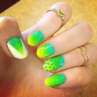 nails notd nailart models own Luis Lemon Toxic Apple nail polish varnish review swatches