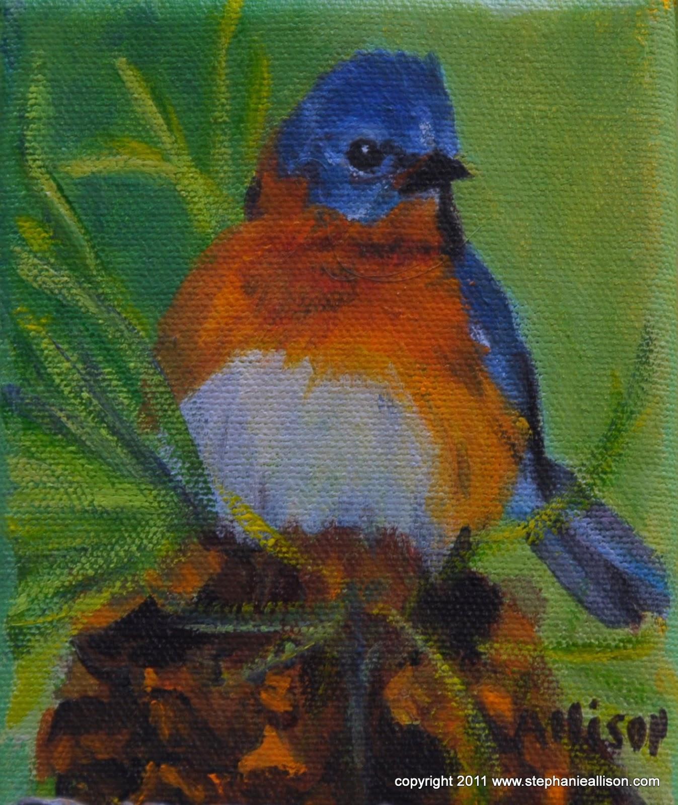 Bluebird By Kentucky Artist Stephanie Allison Daily
