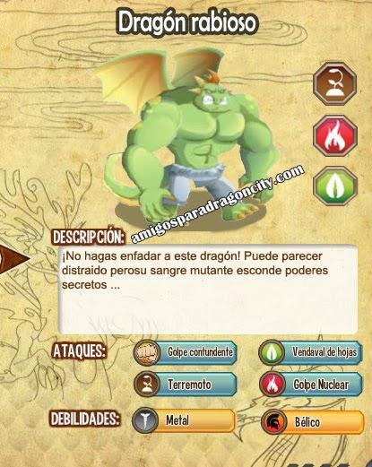 imagen de las caracteristicas del dragon rabioso