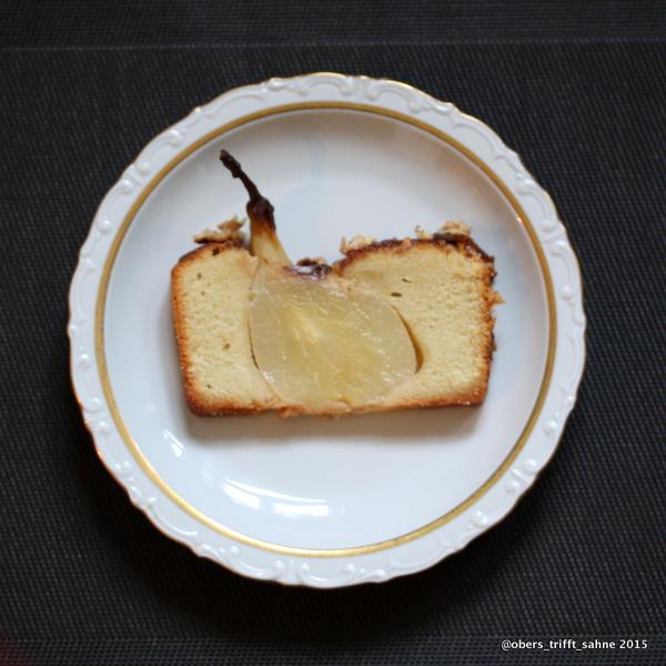 Kuchen mit Birne