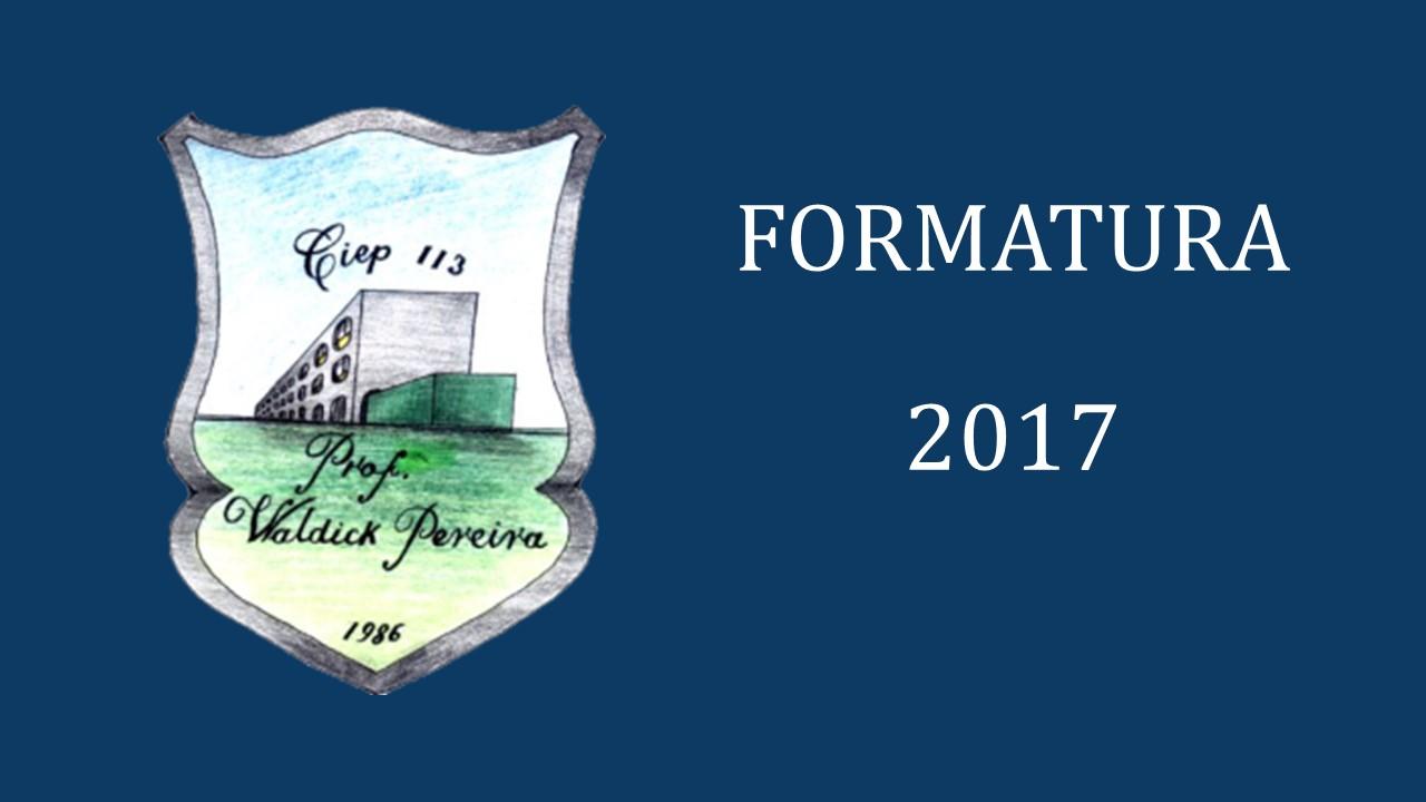 FORMATURA 2017
