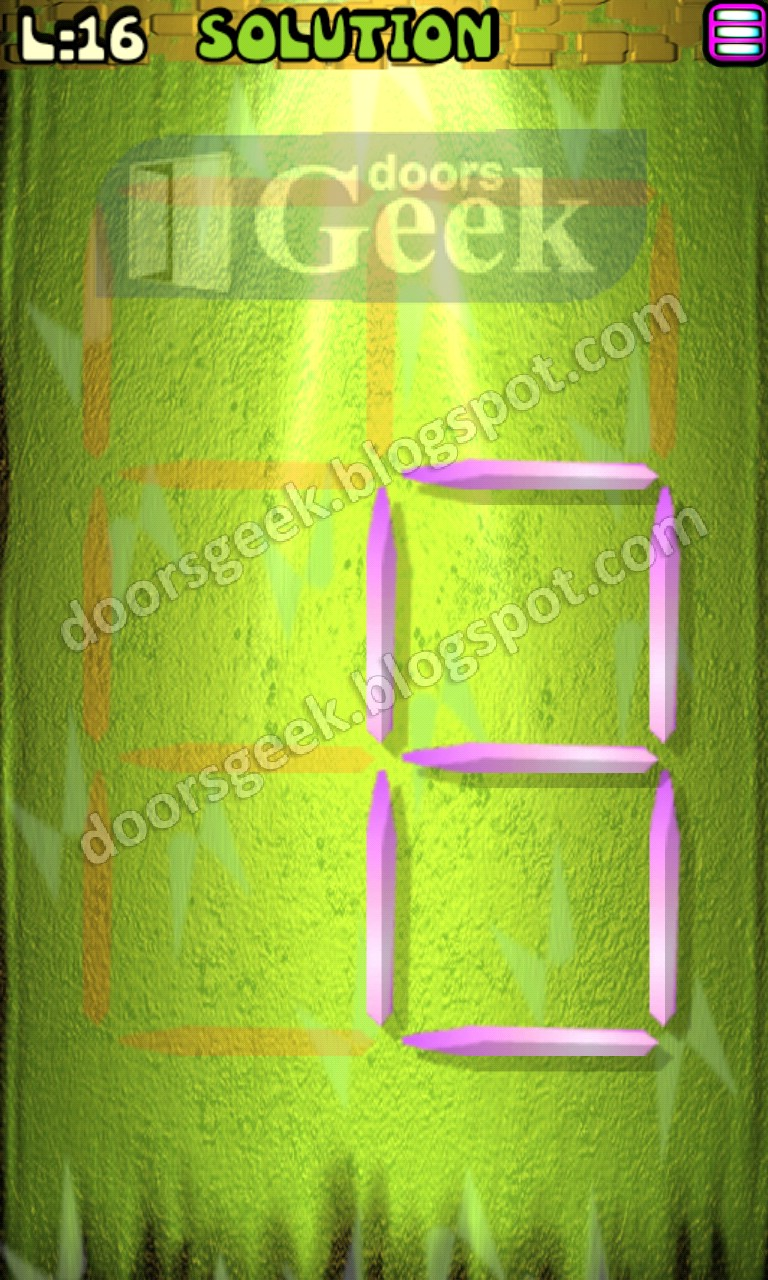 Matches puzzle episode 2 level 16 solution doors geek for 16 door puzzle solution