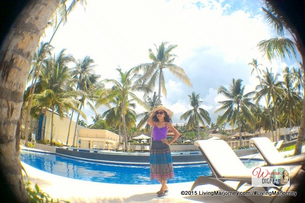 woman in digital the captivating henann resort panglao