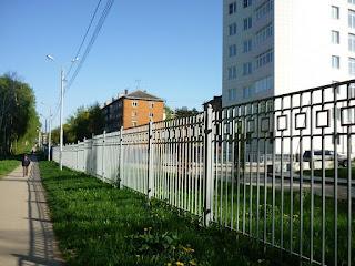 Забор металлический из профильной трубы. Фото 5