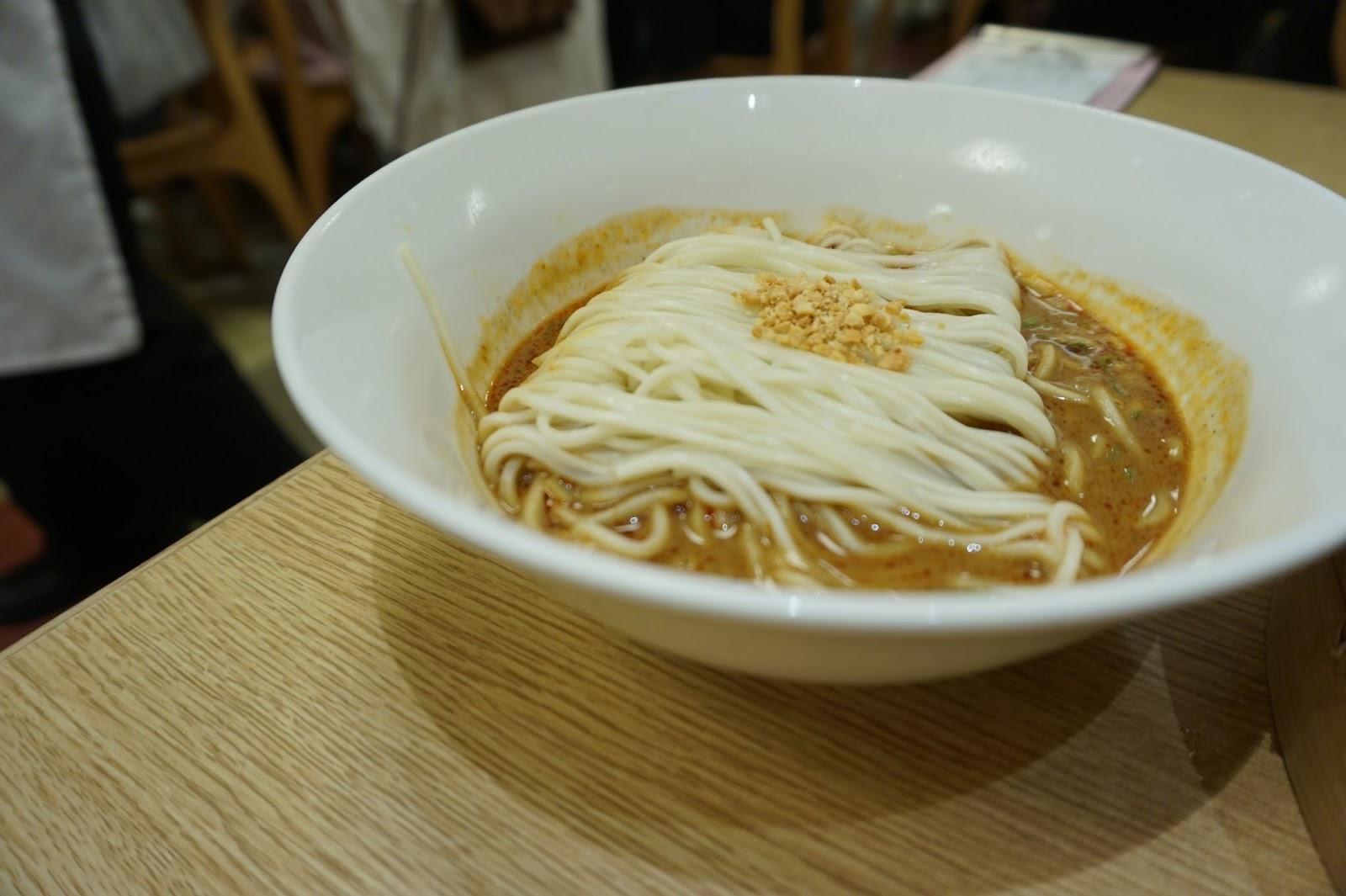 Din Tai Fung restaurant Xinyi Road Taipei Taiwan dan dan mien peanut sauce spicy sesame bowl