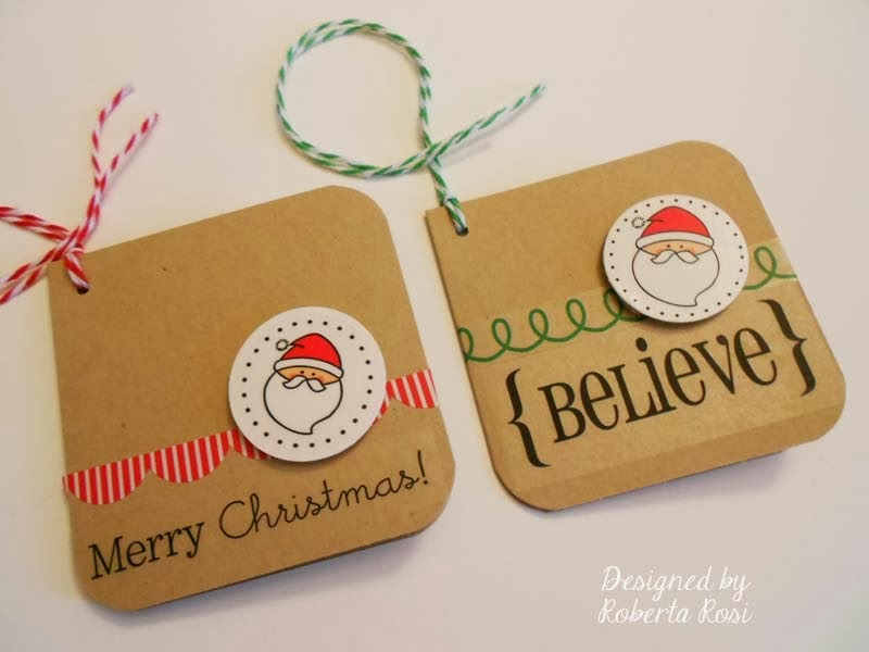 SRM Stickers: Mini Christmas Cards by Roberta
