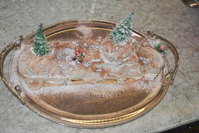 Τούρτα χριστουγεννιάτικος  κορμός