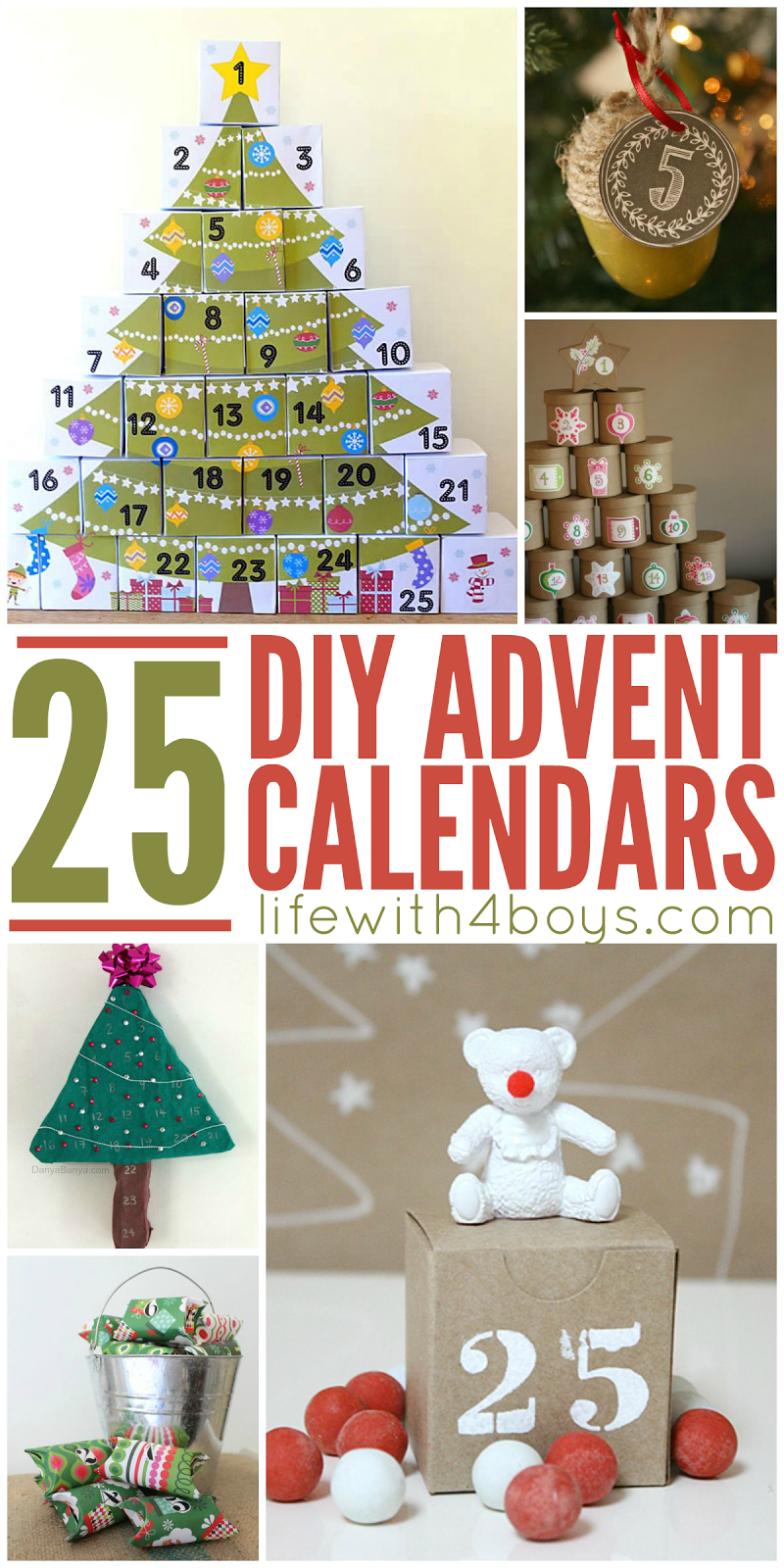 life with 4 boys 25 diy advent calendars to help you. Black Bedroom Furniture Sets. Home Design Ideas