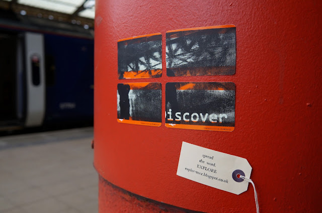 intervention, urban, explore, urbex, train tickets, art, design, screenprint, victoria station, manchester, cattle bridge, craftivism, infiltration, experiment, tag, train station,