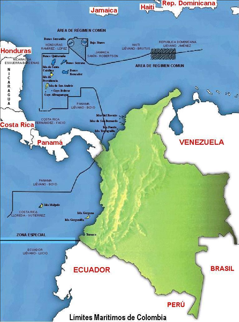 colombia territorio: