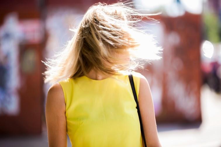 Messy hair wind gust Brooklyn