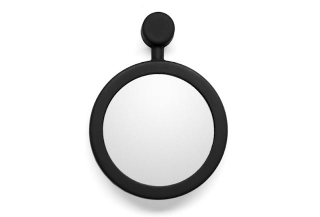 Черное маленькое силиконовое зеркало для ванной комнаты