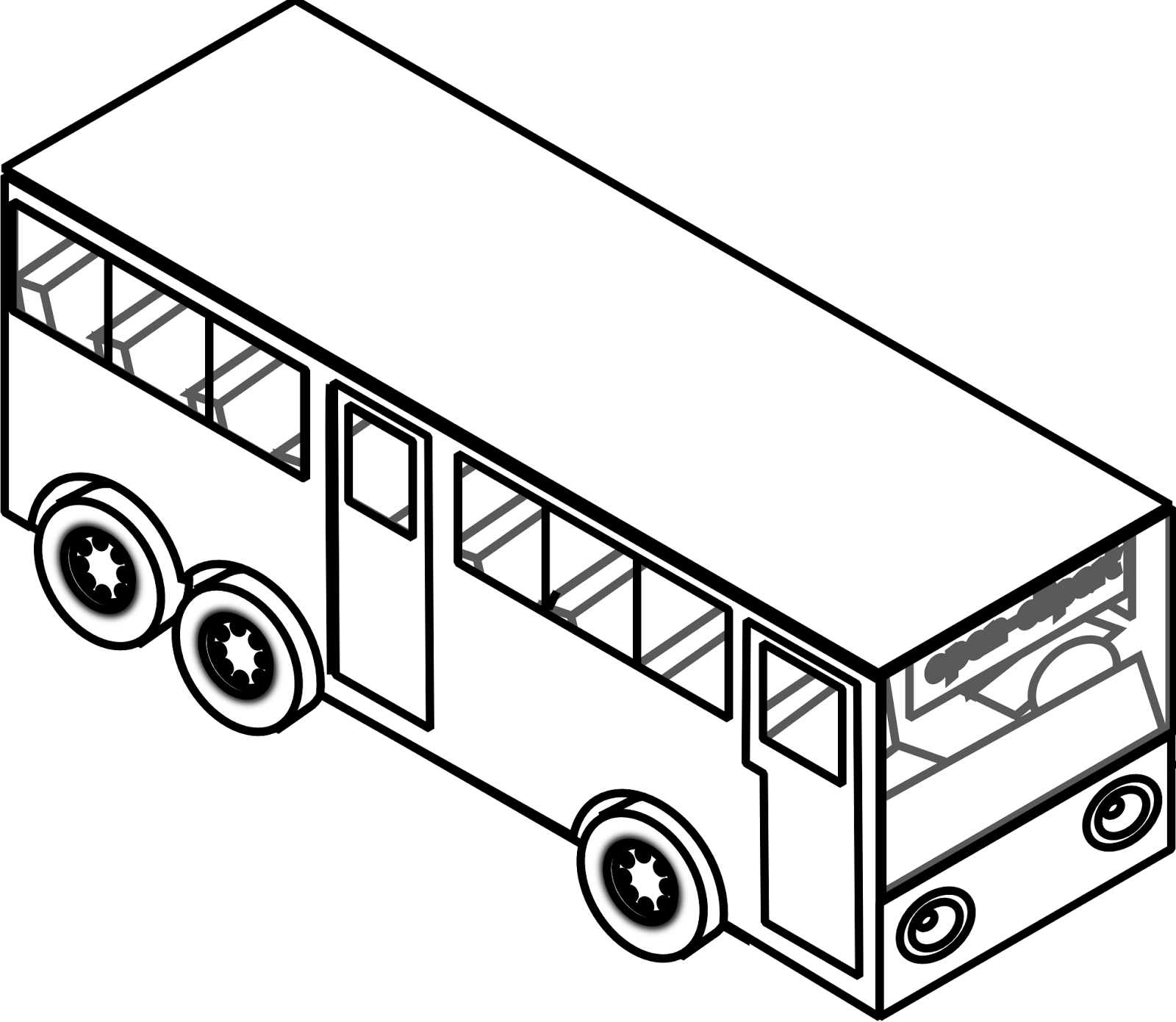 Transportation For Kids Coloring Pages: Bus The Car Coloring Pages