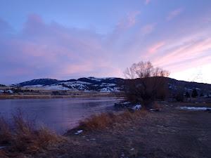 Sunset on the Missouri River