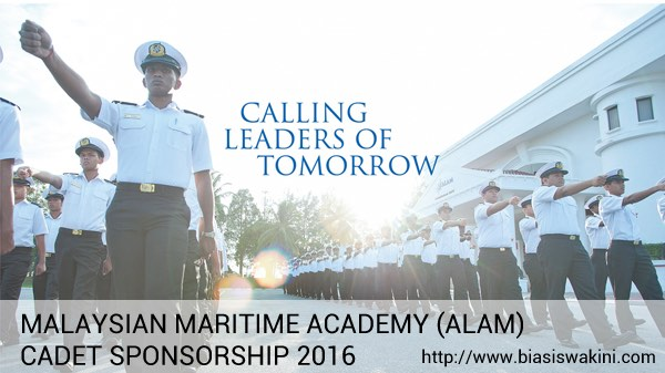 MALAYSIAN MARITIME ACADEMY (ALAM) CADET SPONSORSHIP 2016