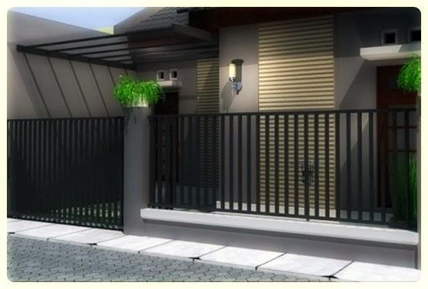 pagar rumah minimalis besi 2 pagar minimalis dikombinasikan dengan ...
