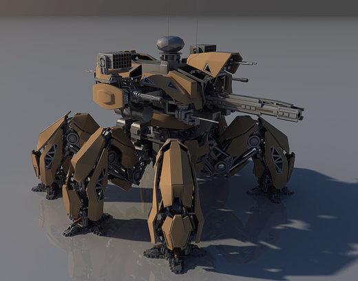 Annihilator Battle mech MK II WIP. por Avitus12