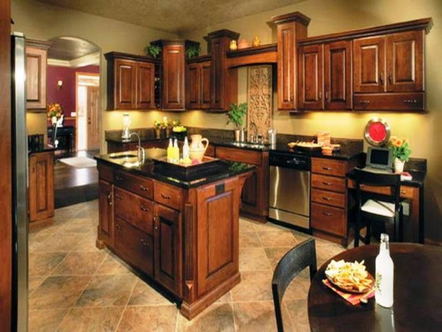 kitchen wall paint colors dark cabinets
