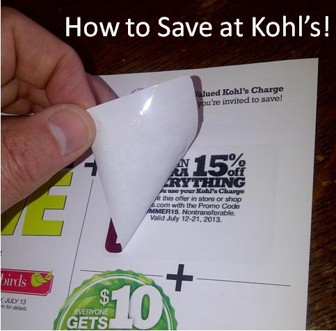 Kohls coupon code no credit card
