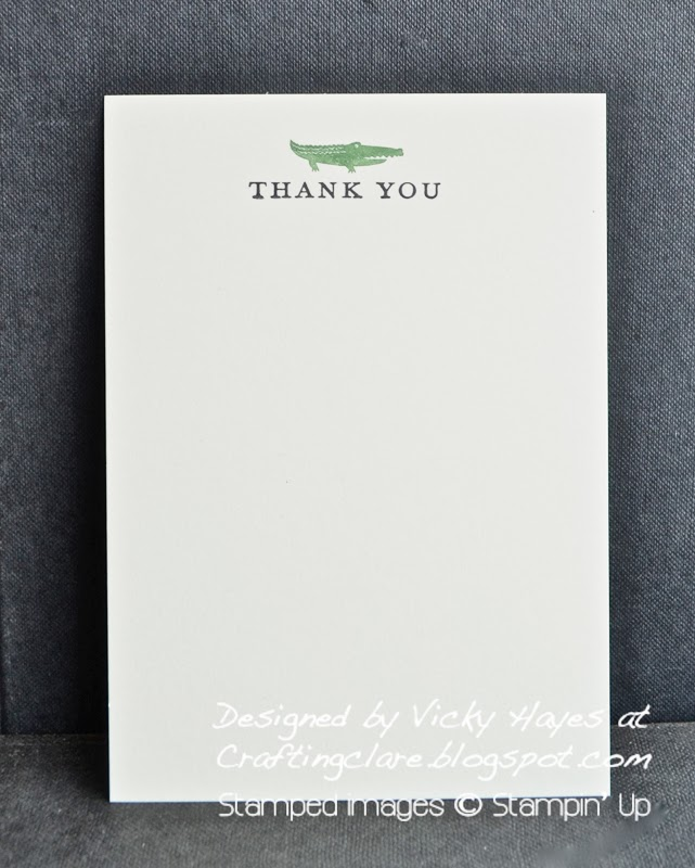 thank you note cards made with See Ya Later free Sale-a-bration set from Stampin Up get yours from Crafting clare